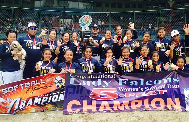 Adamson Lady Falcons complete another unbeaten season, claim fifth straight UAAP softball title