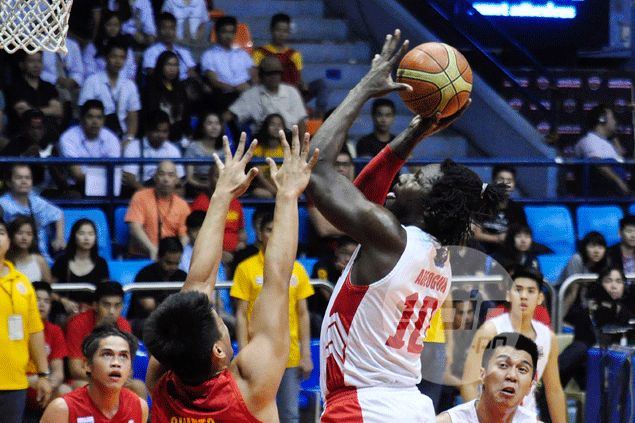 San Beda 'sixth man' missing as Ola Adeogun asks fans support during Red Lions' games