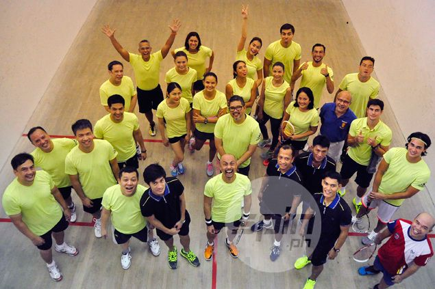 Phil Younghusband, fellow Azkals, celebrities get in swing for adidas squash event