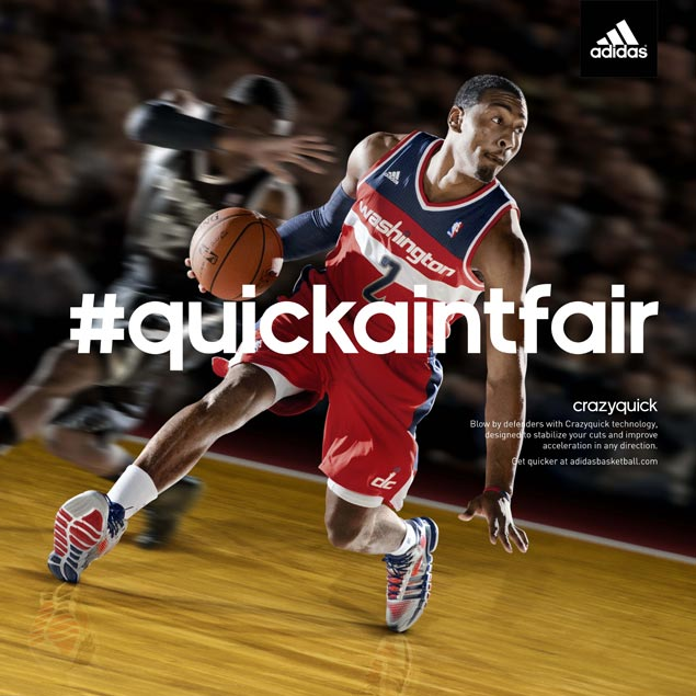 NBA stars Wall, Lillard unveil adidas' Crazyquick basketball shoes. ""