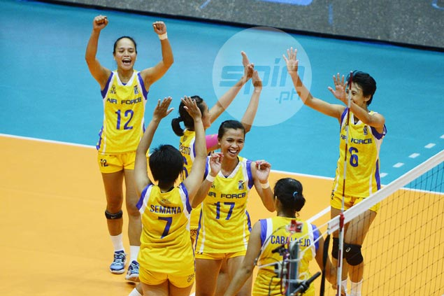Air Force edges Laoag in five sets to sweep semis and gain V-League title series
