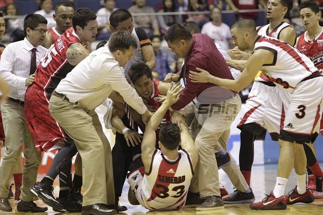 Salud summons Calvin Abueva, Arwind Santos, SMB ballboy, five others for respective roles in 'basketbrawl'