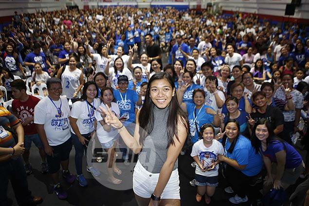 Alyssa Valdez overwhelmed by love as hundreds turn up for Grand Fans Day