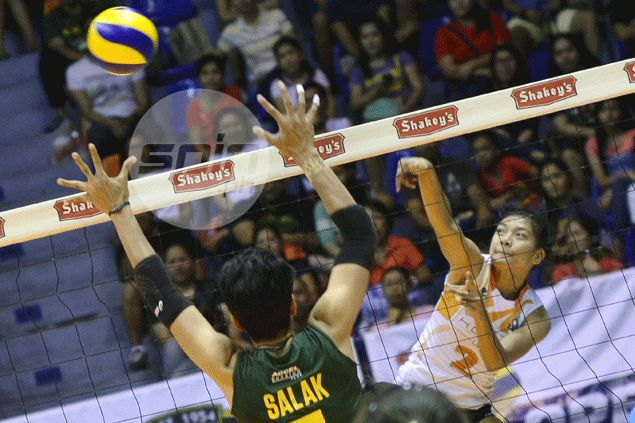 PLDT spikers stay perfect after surviving tough stand by Army in V-League