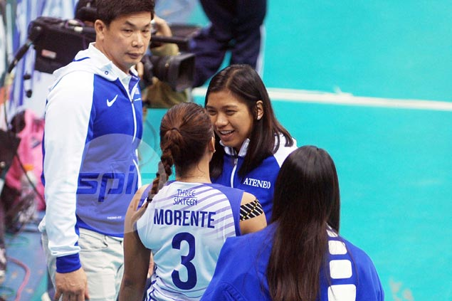 Coach Alyssa Valdez admits she was itching to play as Ateneo goes down in defeat