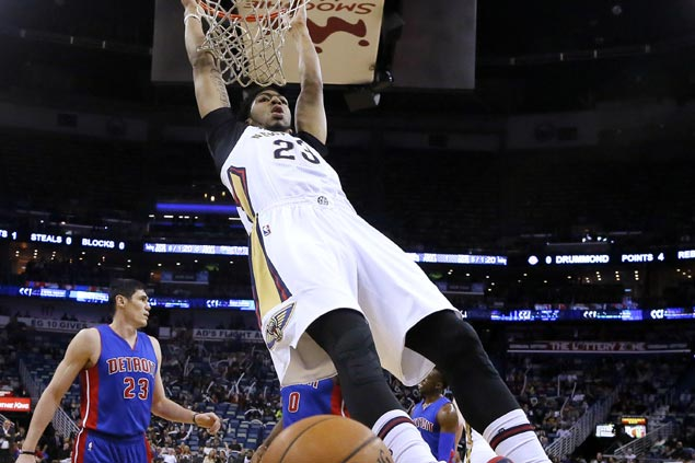 Surging Pelicans soar over Pistons as Anthony Davis dominates Andre Drummond in battle of elite bigs