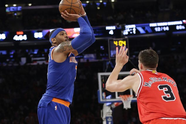 Knicks sweep back-to-back games for the first time this season with dominant win over reeling Bulls