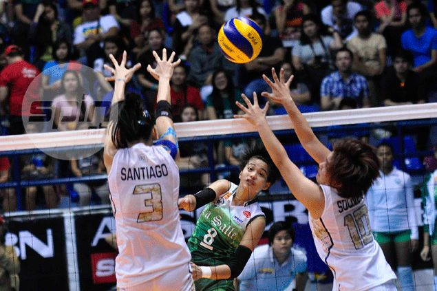 La Salle spikers join rival Ateneo in Final Four after turning back pesky NU Lady Bulldogs