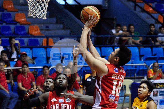 San Beda averts endgame collapse against JRU to arrange finals rematch with La Salle