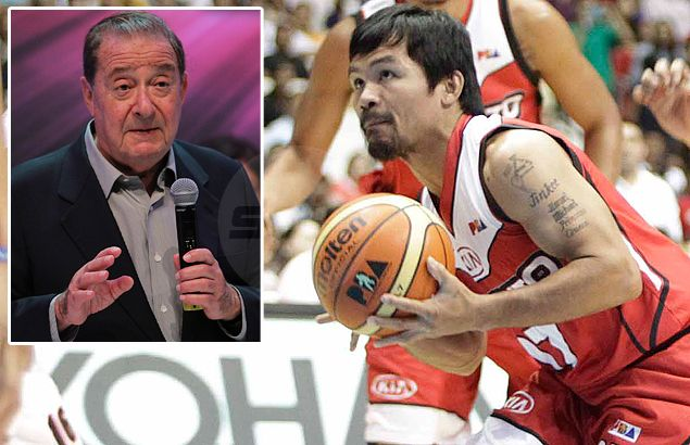 Bob Arum relieved to get assurance that Pacquiao won't play ball again until after Algieri fight