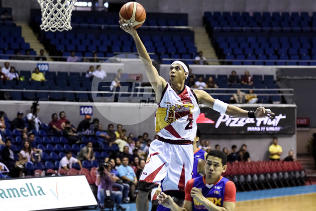 Arwind Santos holds on to his teammates, fans, family in time of grief