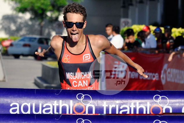 Canadian former ice hockey player is fastest man at Asian Triathlon Cup in Subic