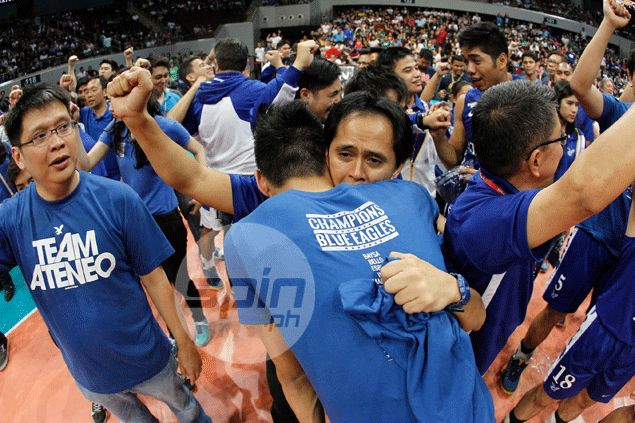 Ateneo Blue Eagles win maiden UAAP men's volleyball title after sweep of NU Bulldogs