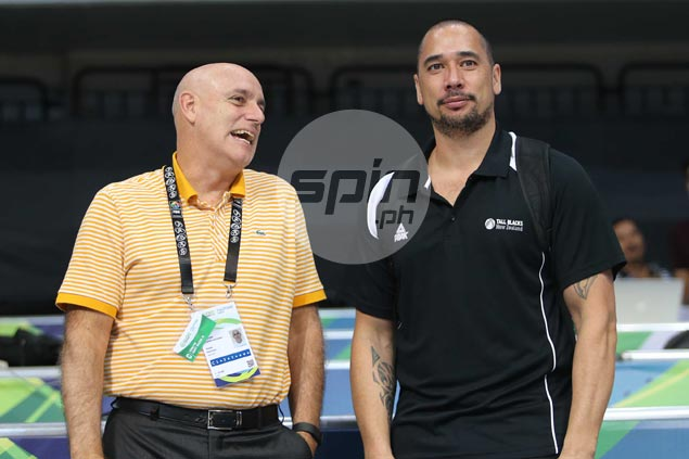 Gilas loss to Tall Blacks not part of discussion as coach Tab Baldwin meet-up with ex-player Paul Henare