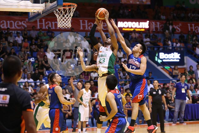 De La Salle rides Ben Mbala's 28-26 game to beat Arellano in final, complete Filoil Cup sweep