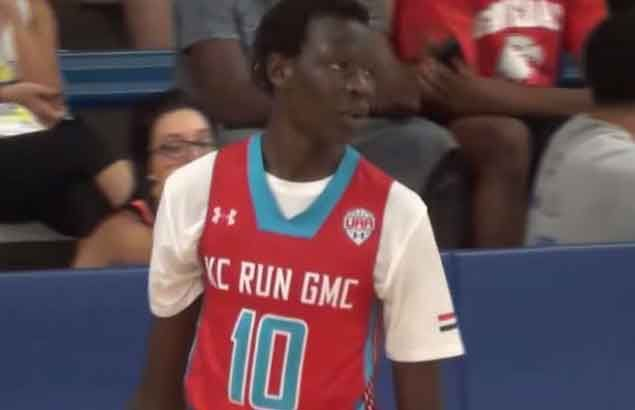 WATCH Manute Bol's 6-foot-10 son has his dad's shotblocking prowess, plus the shooting touch and dribbling skills of a guard