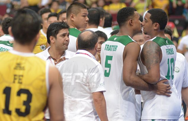 UST coach Bong Dela Cruz refuses to dwell on spat with DLSU's Jason Perkins