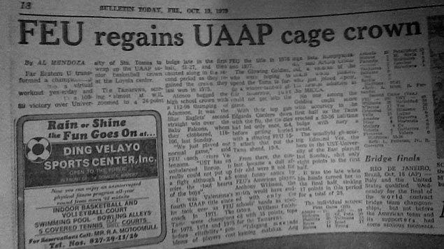 Take Me Back Tuesday: Let's look back at last time FEU, UST met in finals 36 years ago