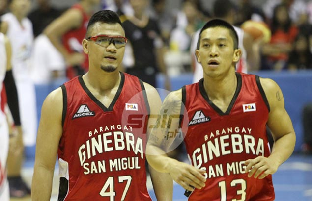 Ginebra duo Mark Caguioa, Jayjay Helterbrand honored to be cited together as part of PBA's list of '40 Greatest Players'