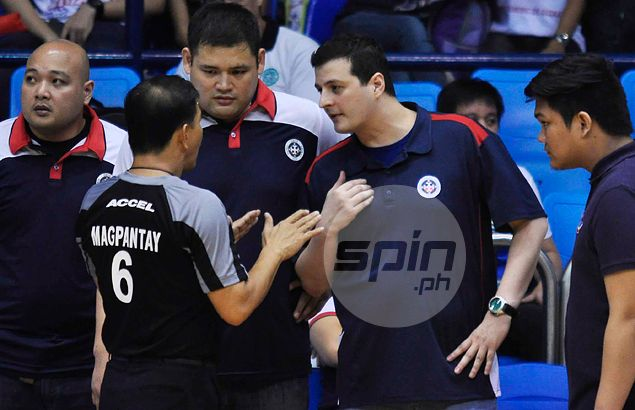Letran coach hits out at practice of allowing banned NCAA refs call games in UAAP: 'Di sila takot ma-suspend'