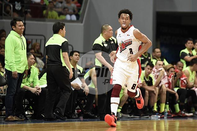 Calvin Abueva slapped technical for sticking tongue out as referees keep it tight