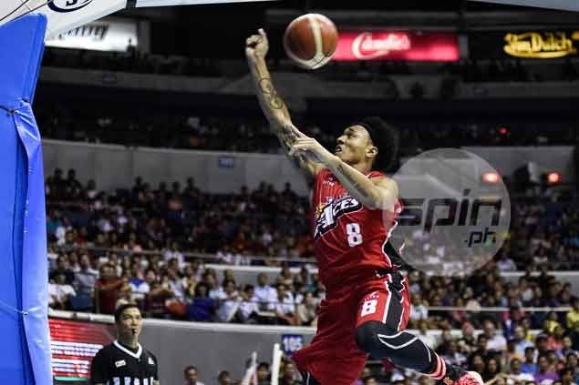 Calvin Abueva's volleyball background comes in handy in crucial Game Two save