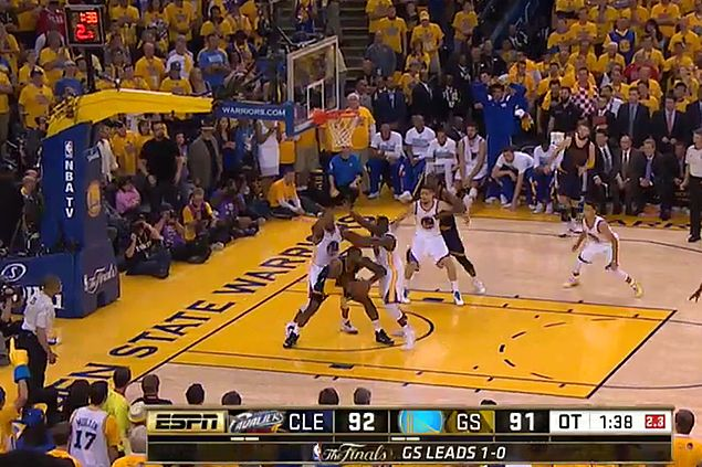 NBA admits refs erred in failing to call LeBron travelling violation - and Iguodala foul - in Game Two