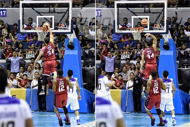 Ginebra guard Chris Ellis blames slippery ball for botched dunk attempt