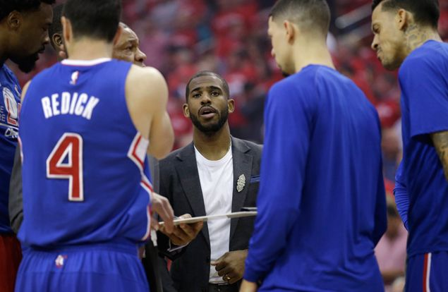 Injured Chris Paul works out on court for LA Clippers ahead of Game Three vs Rockets