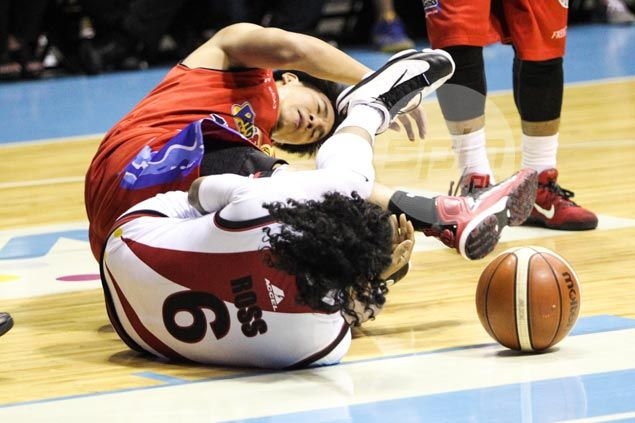 SMB guard Chris Ross rues 'dirty tactics' of Rain or Shine  'That's not basketball'