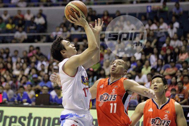 RoS coach Yeng Guiao urged him to be aggressive. Chris Tiu responds in a big way