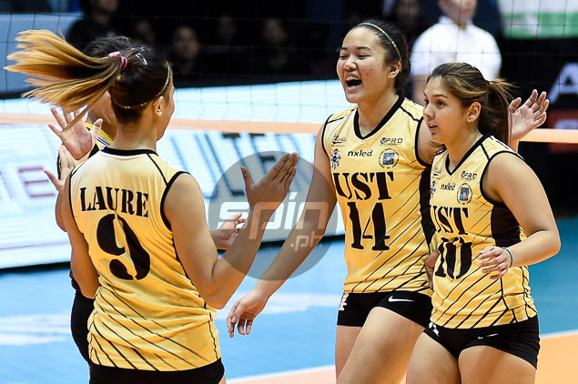 UST coach Kungfu Reyes so glad to see faith in rookie Christine Francisco pay off