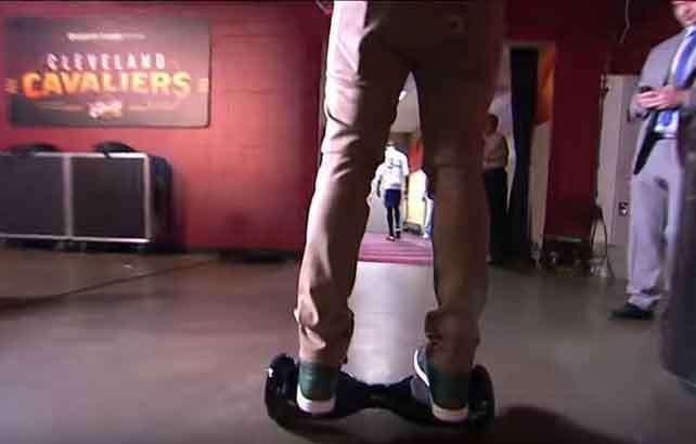 'Hoverboards' banned from Cleveland locker room as Cavs take business-like approach