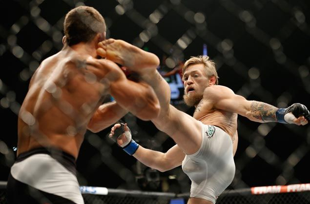Conor McGregor undaunted as ever in taking risky fight against taller, heavier Nate Diaz in UFC 196