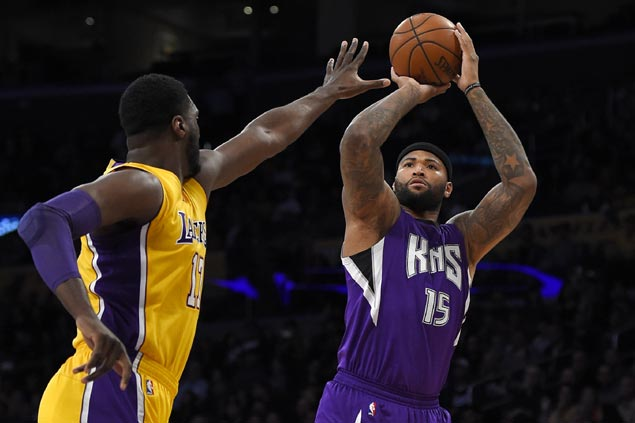 DeMarcus Cousins, Kings pummel Lakers for Sacramento's third win in a row