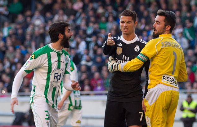 Cristiano Ronaldo suspended two games for kicking opponent during match