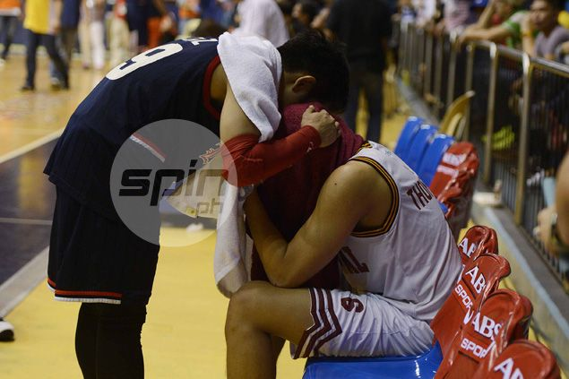 Sobbing Scottie Thompson consoled by chants of 'Ginebra, Ginebra' as Altas season hits dead end