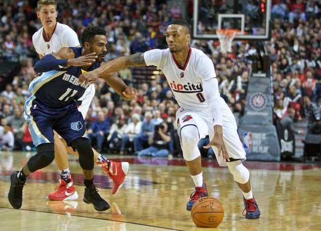 Damian Lillard torches Grizzlies with seven treys as Blazers win third game in row