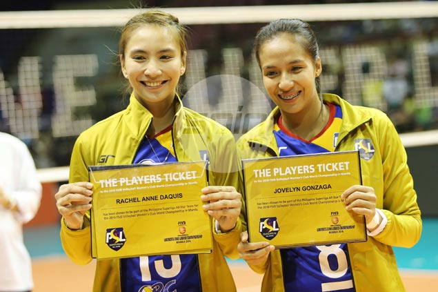 Daquis, Gonzaga picked to fill two of seven spots for local players in PSL team to FIVB world club tilt