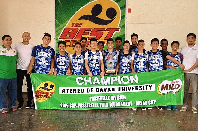 Ateneo teams sweep Small Basketeers and Passerelle titles in Best Center Davao meet