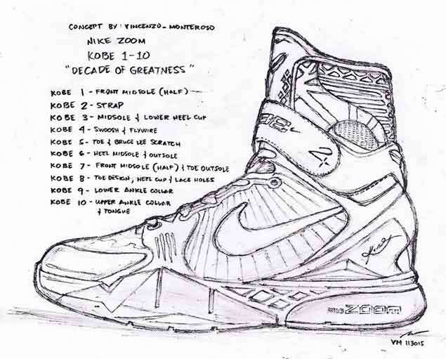 Pinoy fan's tribute sketch of Kobe Bryant's 'Decade of Greatness' shoe earns praise