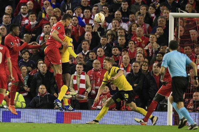 Liverpool advances to Europa League semis with dramatic win over Borussia Dortmund