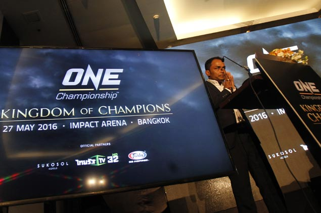 ONE Championship to stage first-ever event in Thailand in May