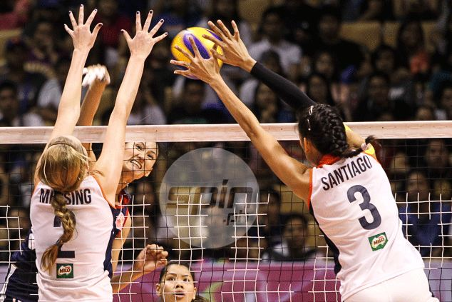 Dindin Santiago's rivalry with sister Jaja takes the backseat as team effort carries Petron to victory