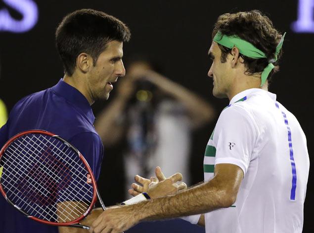 Novak Djokovic impressive in romp over Roger Federer; Serena Williams through to final