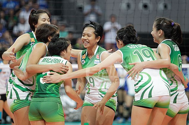 DLSU Lady Spikers stay perfect in Unigames after romp over University of Mindanao