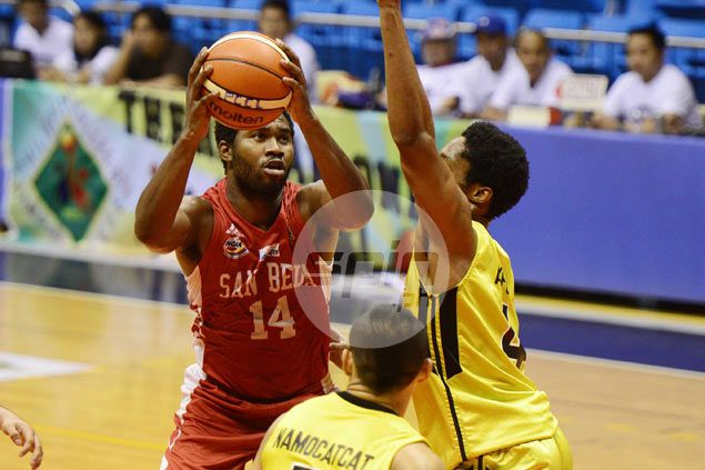 After Ekwe and Adeogun, it's the turn of Donald Tankoua to hold fort for San Beda