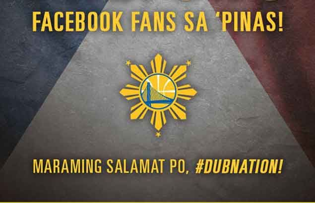 Golden State Warriors have 2 million reasons to thank Pinoy fans on Facebook