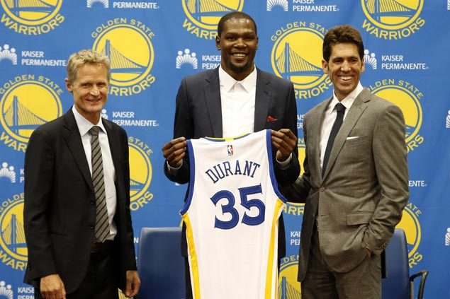New Warrior Kevin Durant says tearful call to OKC 'the hardest thing I've had to do in my life'