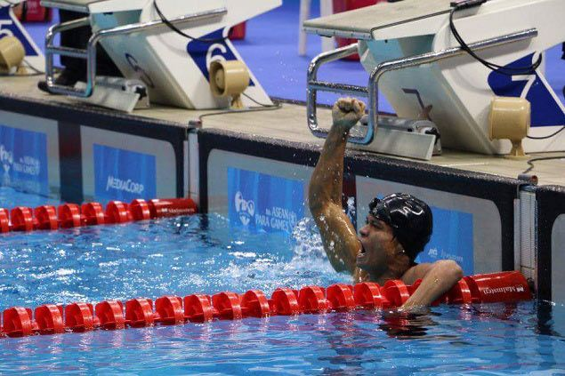 Rio-bound swimmer Ernie Gawilan wins second gold medal in Asean Para Games